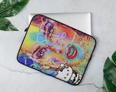 Laptop Sleeve Graffiti Face Kitty Art