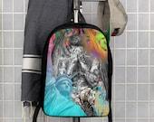 Graffiti Statue of Liberty Bieber Art Polyester Minimalist Backpack
