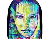 Graffiti Grunge Super Model Art Polyester Minimalist Backpack