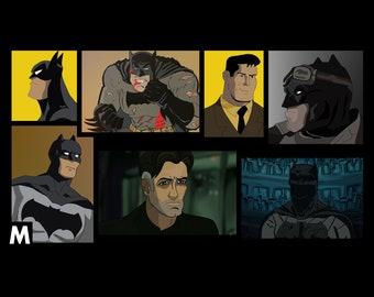 Batman Alternate Versions Framed Poster
