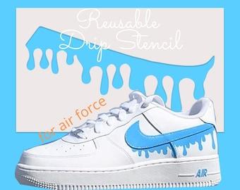 Reusable Drip Stencil for Custom Shoe