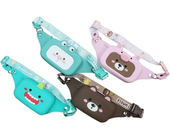 Silicone Crossbody Bags, Adults or Children, Waterproof, MANY Cartoon Designs