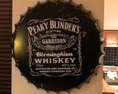 Peaky Blinders Vintage Retro Metal Bottle Top 40cm Man Cave Girl Cave Bar Garden Hallway Wall Art Bottle Top Bottle Cap