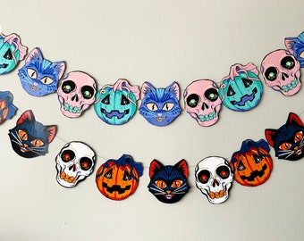 Vintage Inspired Printable Halloween Garland | Pastel and Traditional