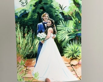 Custom Family and Wedding Portraits | Watercolor and Pastel Prints