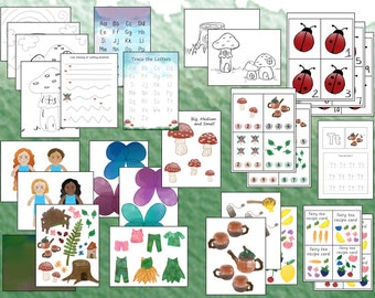 Magic Forest, Educational Play Printable packet