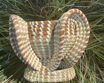 Small Elephant Ear Basket with foot