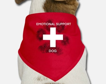 """Bandana for dog """"Emotional support dog"""""""