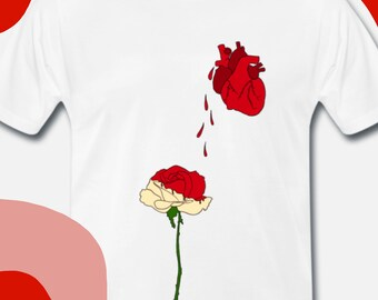 """Classic Men's T-shirt """"I can paint all your white roses into a flaming red"""""""
