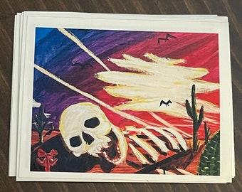 Death in the desert sticker