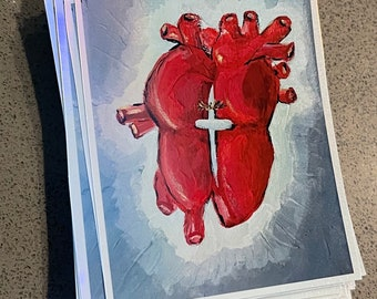 Holographic Heart Sticker