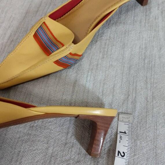 Vintage UNISA Slip on Mules 90's Yellow Size 8 - image 2