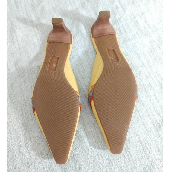 Vintage UNISA Slip on Mules 90's Yellow Size 8 - image 3