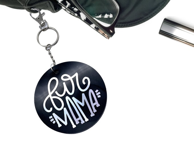 Dog Mama Bag Accessory Keychain, Pet Keychain, Purse Bag Accessories, Pet Owner Gift, Veterinarian Office Gifts, Dog Mom, Dog Lover