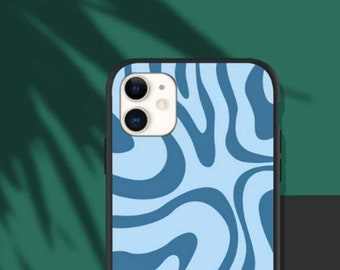 Blue swirl cool case for iphone 7,8,SE2 XR , XS , XS max, iphone 11, iphone 11 pro/max, iphone 12/12 pro iphone 12 mini, iphone 12 pro max