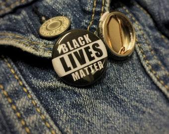 Black Lives Matter Pinback Buttons BLM Pins