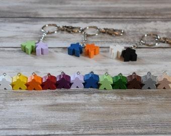 Double Trouble Meeple Keychain Custom Colours