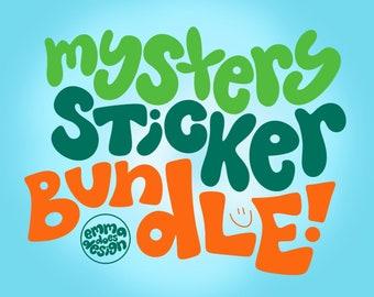 Mystery Handlettered Stickers   Eco-friendly recyclable sticker   Art sticker   mystery bundle