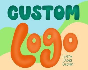 Custom Handlettered Logo   Small business logo design   Custom Branding Logo
