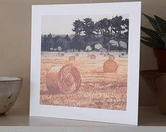 August Greetings Card from an original etching.