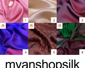 100% Silk Scarf in Various Colors, Silk Fabric By The Yard, Silk Fabric, Wholesale Silk Fabric, Silk Dress Fabric, Silk Dupioni Fabric