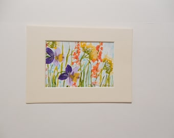 Colorful Meadow Flowers Watercolor Painting