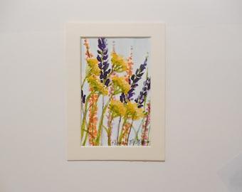 Meadow Flowers Original Watercolor Painting
