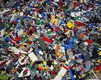 1 pound MIXED Legos (TM) Brand Variety Sack - 100% Authentic and Sterilized.  Stuffed Randomly. Sold by Lego Sacks