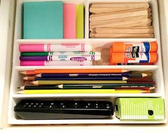 Custom Drawer Organizer - Modular Drawer Organizer - Organization - Organization Gifts - Desk Drawer Organizer - Drawer Insert - Desk Drawer