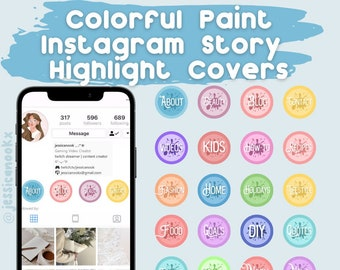 Colorful Paint Instagram Story Highlight Cover Pack