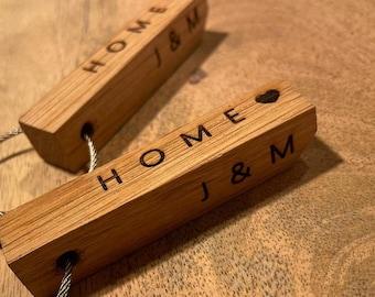 Keychain wood