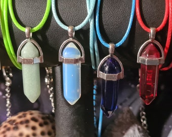 Magic necklace in gemstone shape
