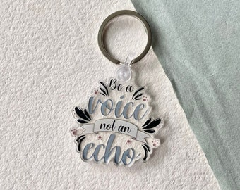 Inspirational Quote Acrylic Keychain, Positive Affirmation, Motivational Quote, Purse Charm