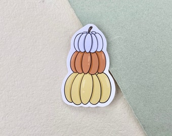 Halloween Candy Corn Pumpkins Vinyl Sticker, Fall Autumn Spooky Sticker, Laptop Sticker, Bullet Journal, Scrapbook, Waterproof Sticker