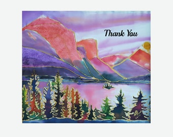 Thank You - Recycled Greeting Card with Original Artwork and Text