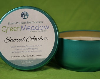 Sacred Amber Scent Soy Container Candle