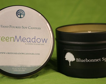 Bluebonnet Scent Container Soy Candle
