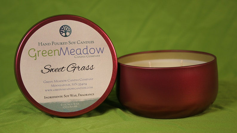 Sweet Grass Scent Soy Container Candle image 0