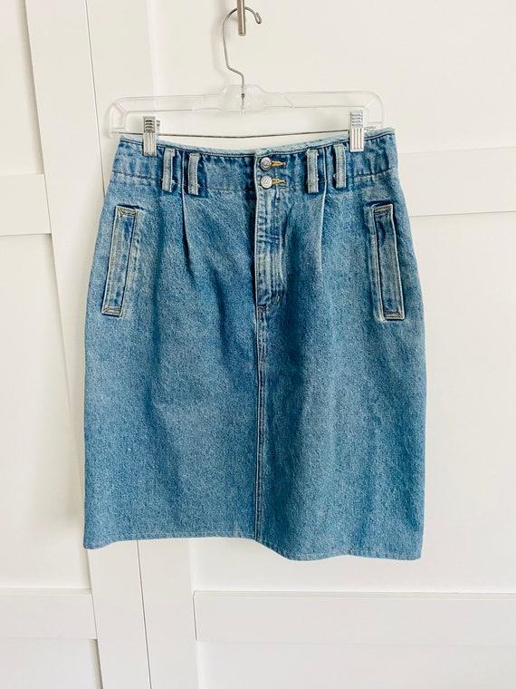 Vintage Lizwear Western Denim Skirt - image 4