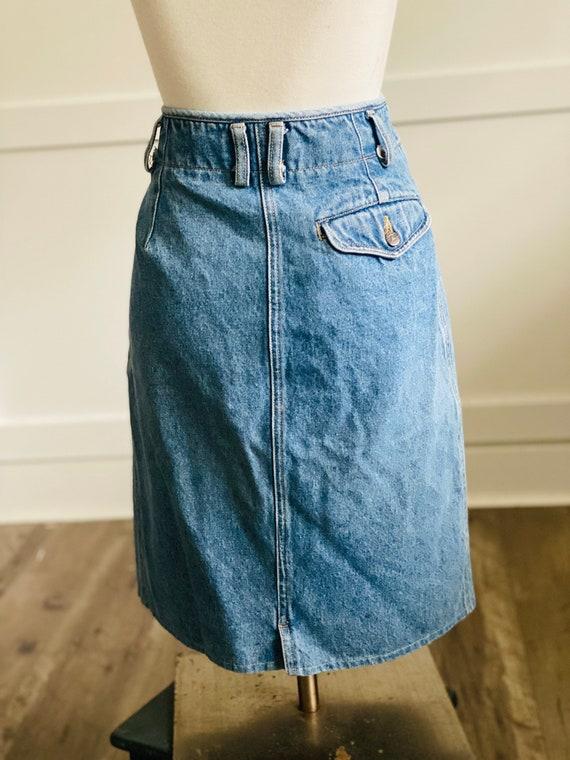 Vintage Lizwear Western Denim Skirt - image 2