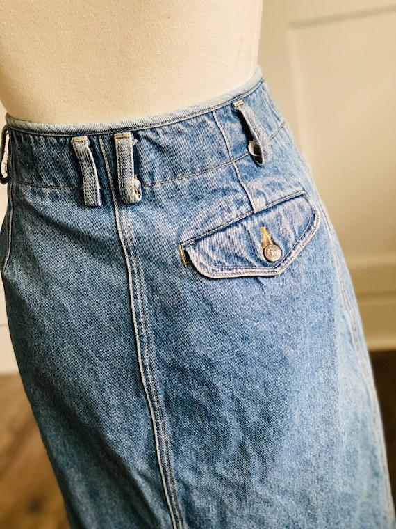 Vintage Lizwear Western Denim Skirt - image 6