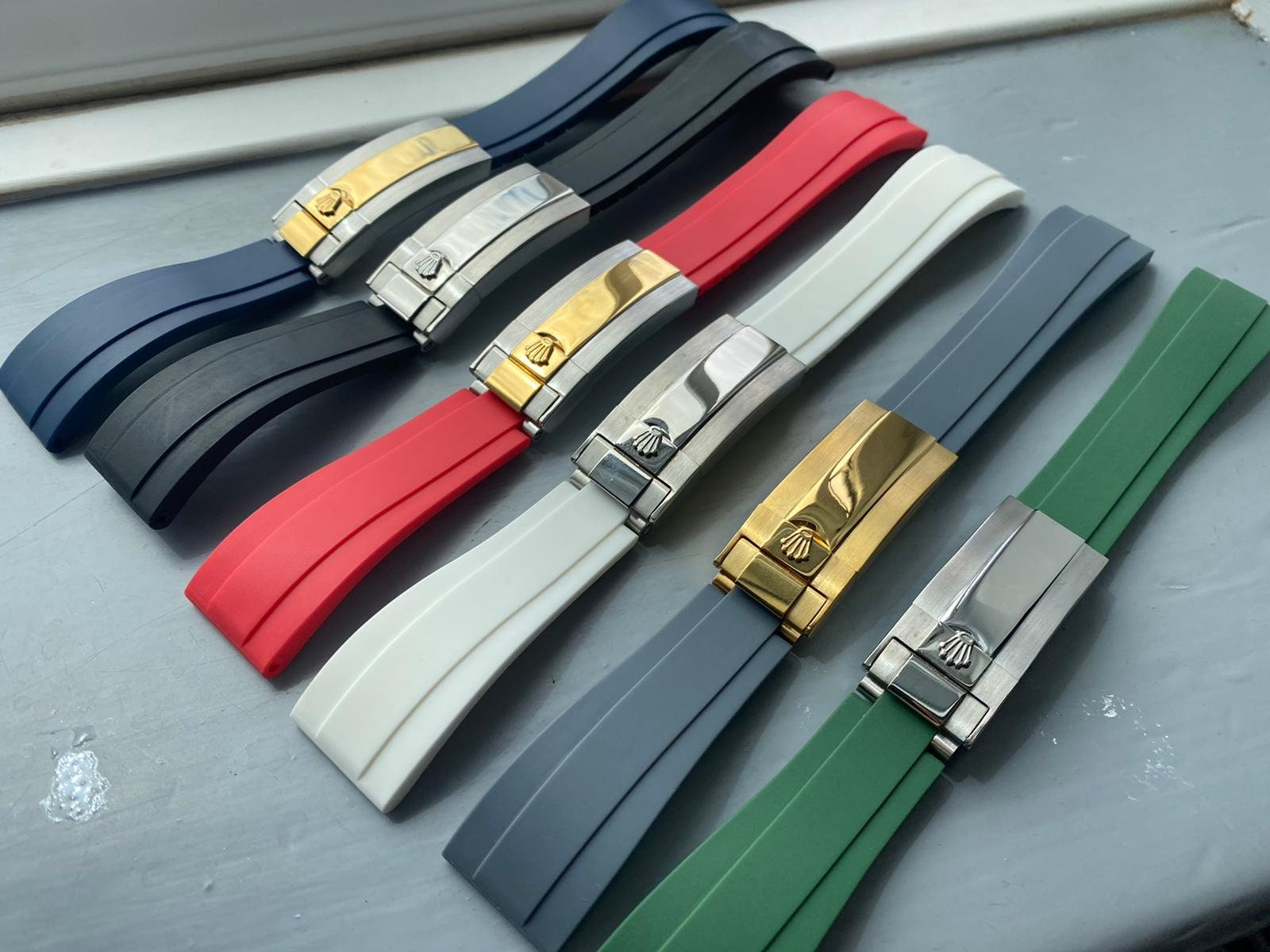 Rolex 20mm Oysterflex Rubber Strap Band for Rolex Watch Daytona Submariner GMT Explorer Yacht-Master 6x colors new