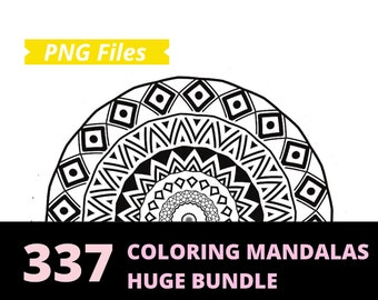 337 Mandala Coloring Pages - Coloring Pages For Adults - Color Page Printable - Mandala Png - Printable Coloring Pages - Instant Download