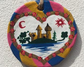 Heart Coeur Herz Castle Roundel Art
