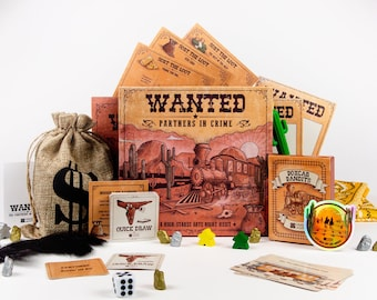 Western Train Heist Date Night Box - Wanted: Partners in Crime