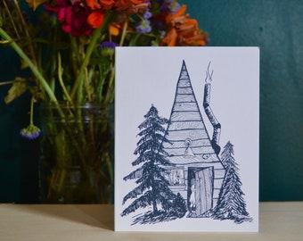 Find Home Cabin Blank Card