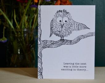 Dubious Owl Graduation Card