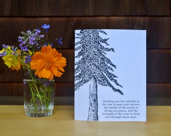 Condolences with Nature Greeting Card