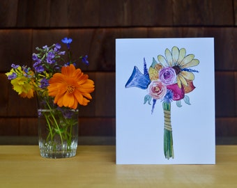 Handpicked Happiness Greeting Card