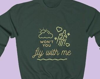 Fly With Me Sweatshirt (Unisex) - Concert Crewneck, Jonas Fan Gift, Concert Merch